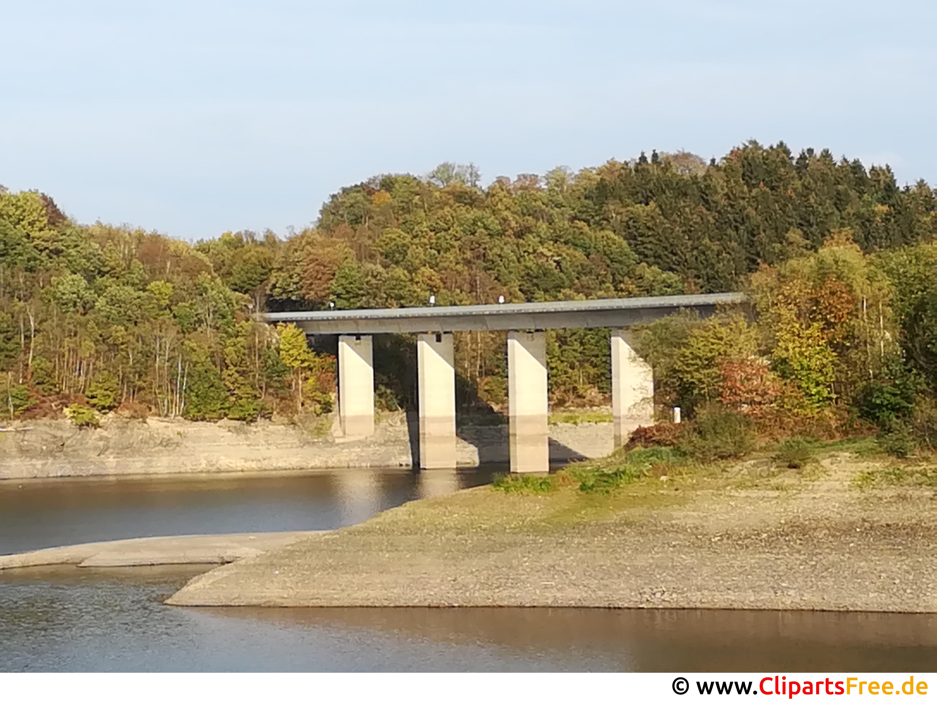 Brücke am Wasserdamm Foto kostenlos