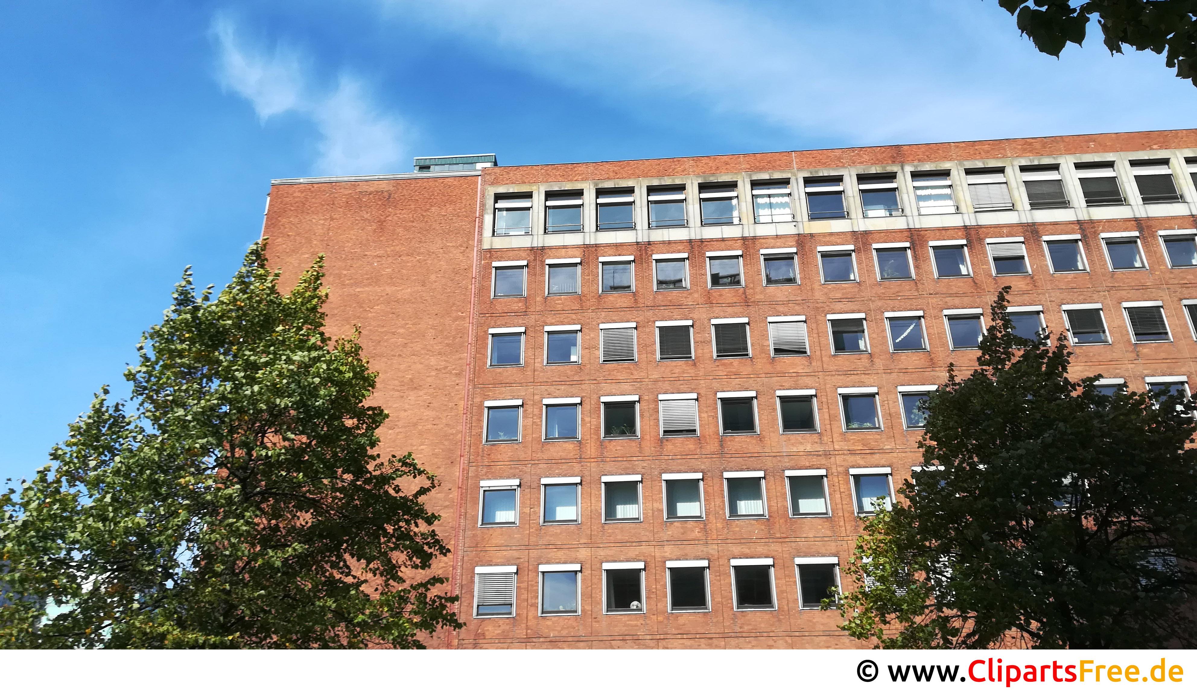 Altes Bürogebäude aus roten Ziegeln Foto kostenlos