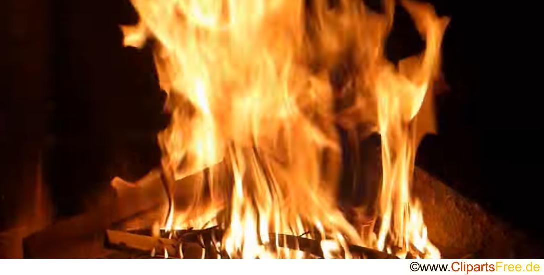 Feuer legen Fotobank gratis