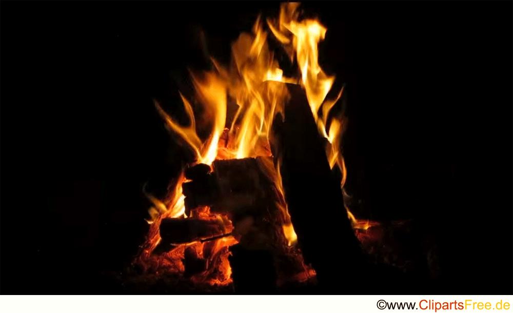 Kaminfeuer Bild kostenlos