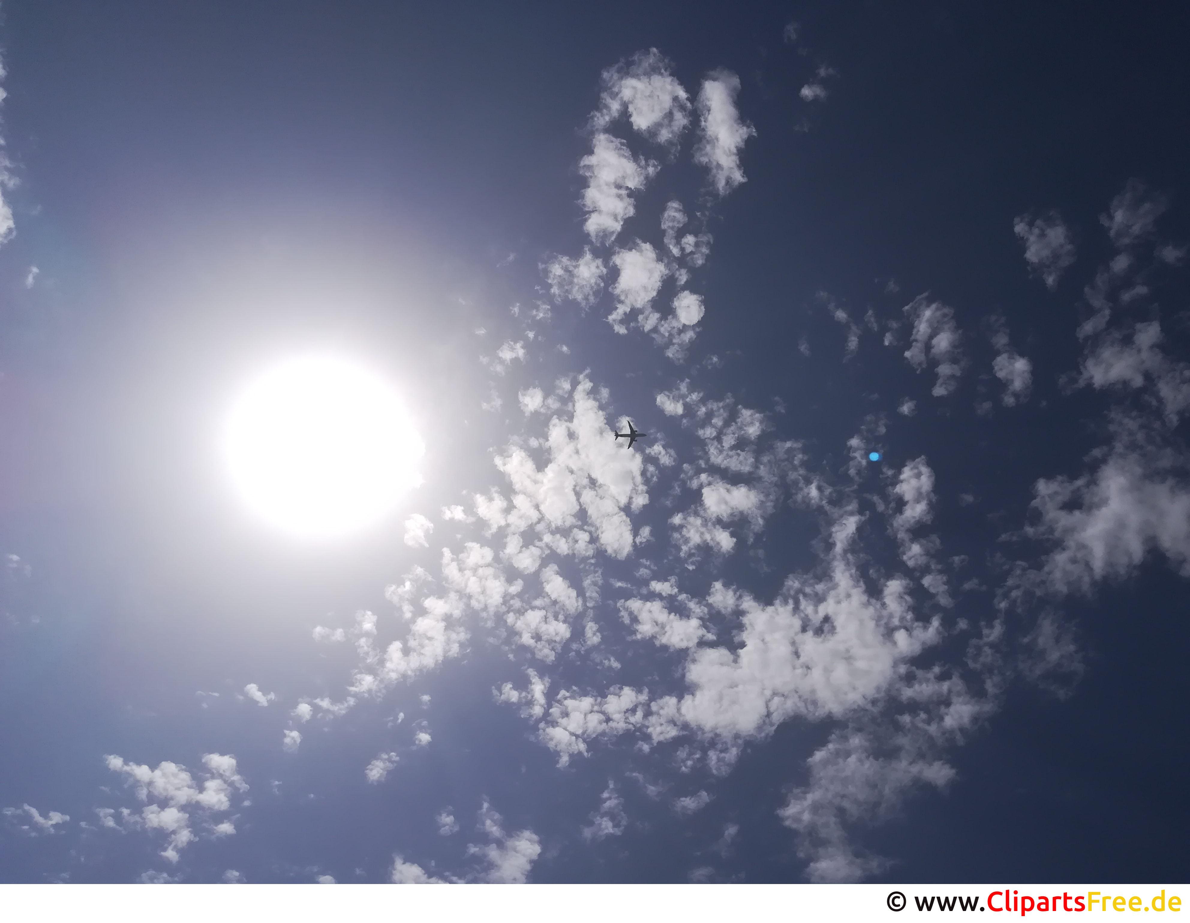 Flugzeug im Himmel Bild, Foto, Hintergrundbild kostenlos