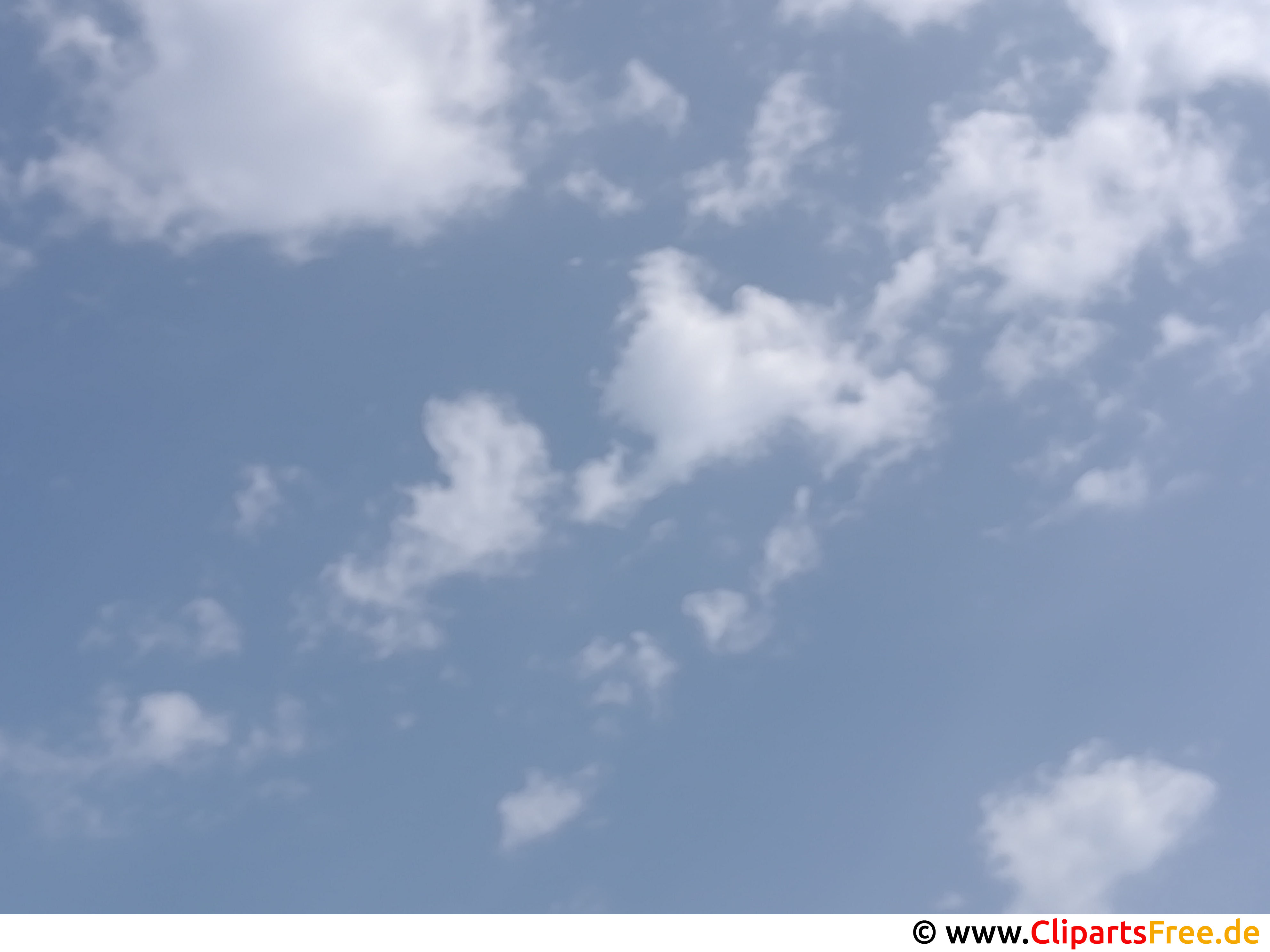 Himmel blau mit weißen Wolken Foto
