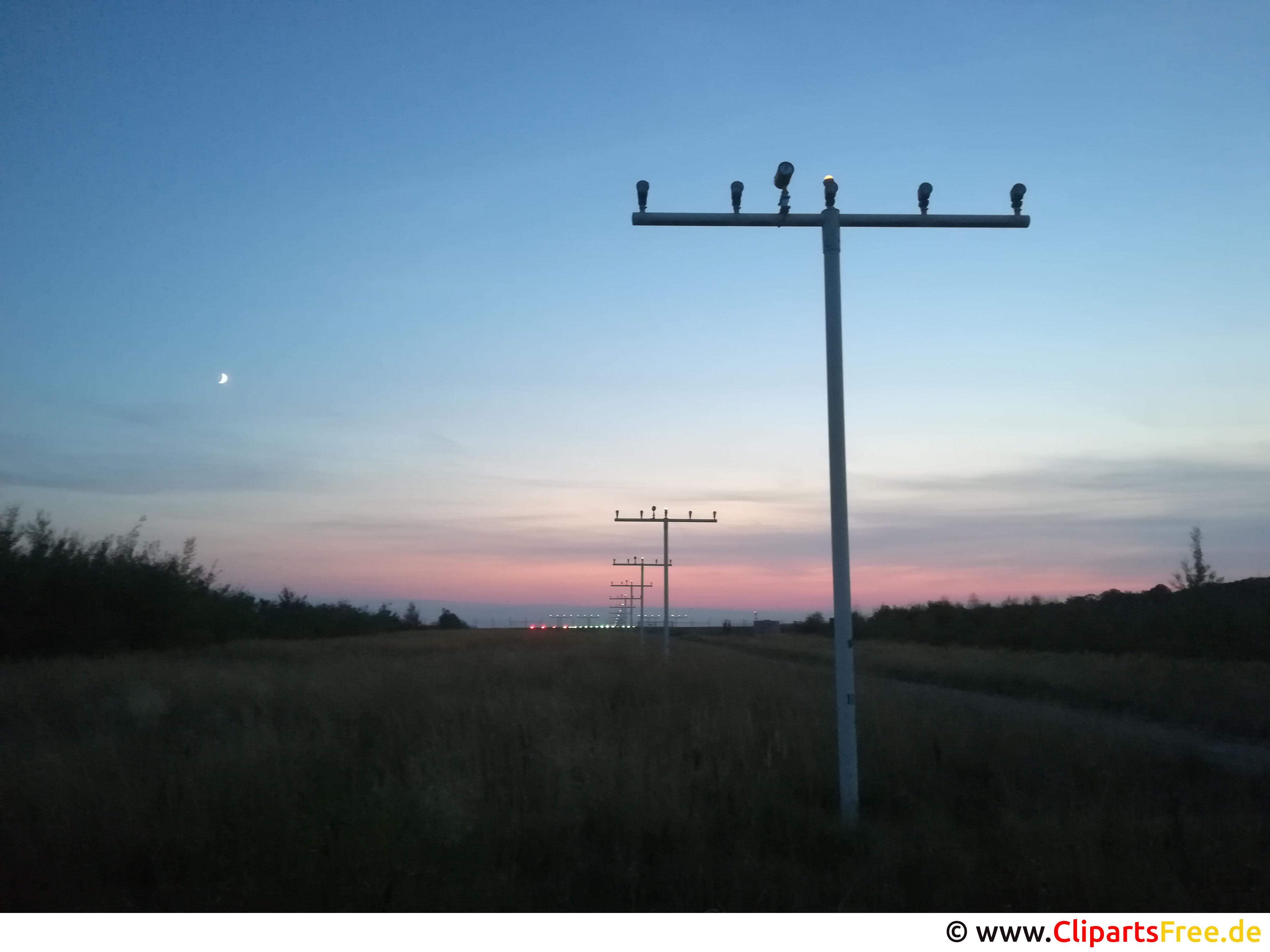 Sonnenuntergang am Flughafen Bild, Foto, Hintergrundbild kostenlos