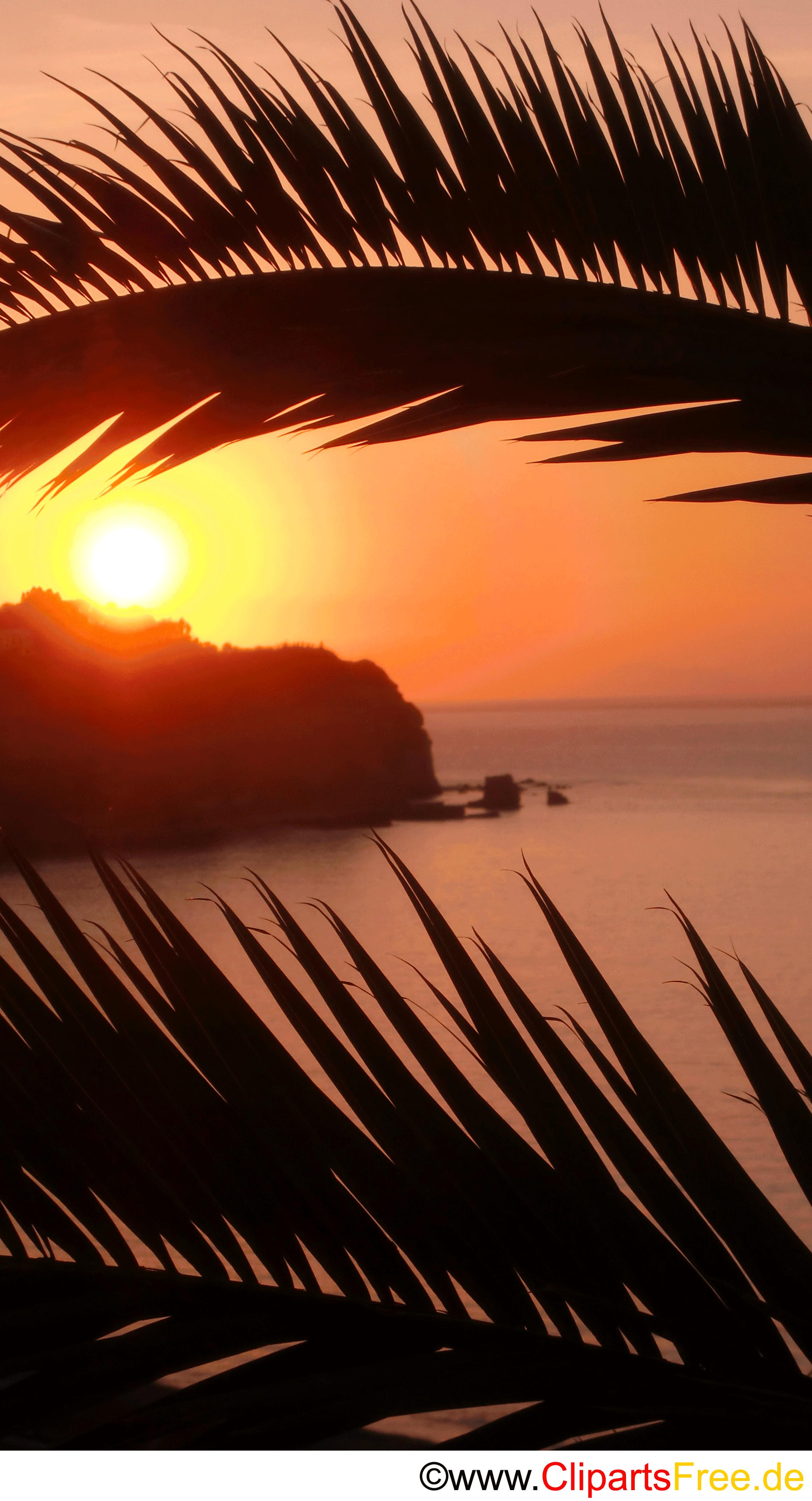Sonnenuntergang in Italien Foto