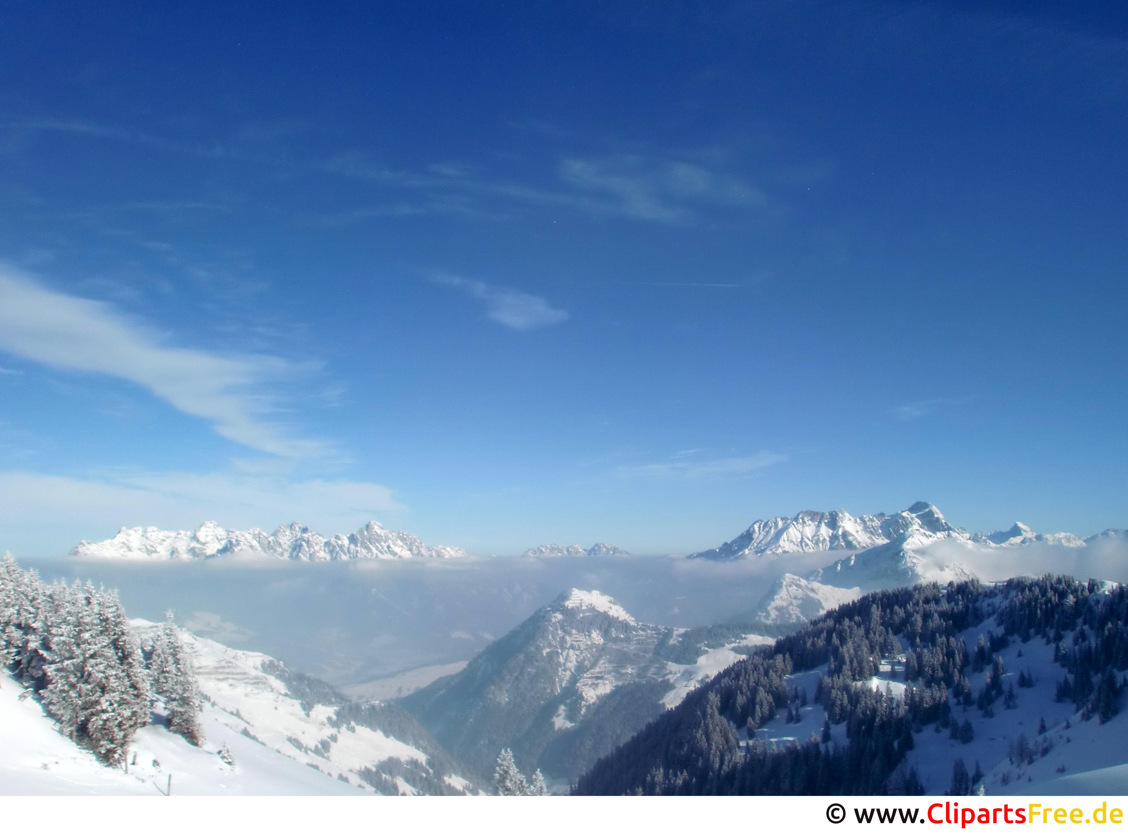 Alpen im Winter Foto gratis
