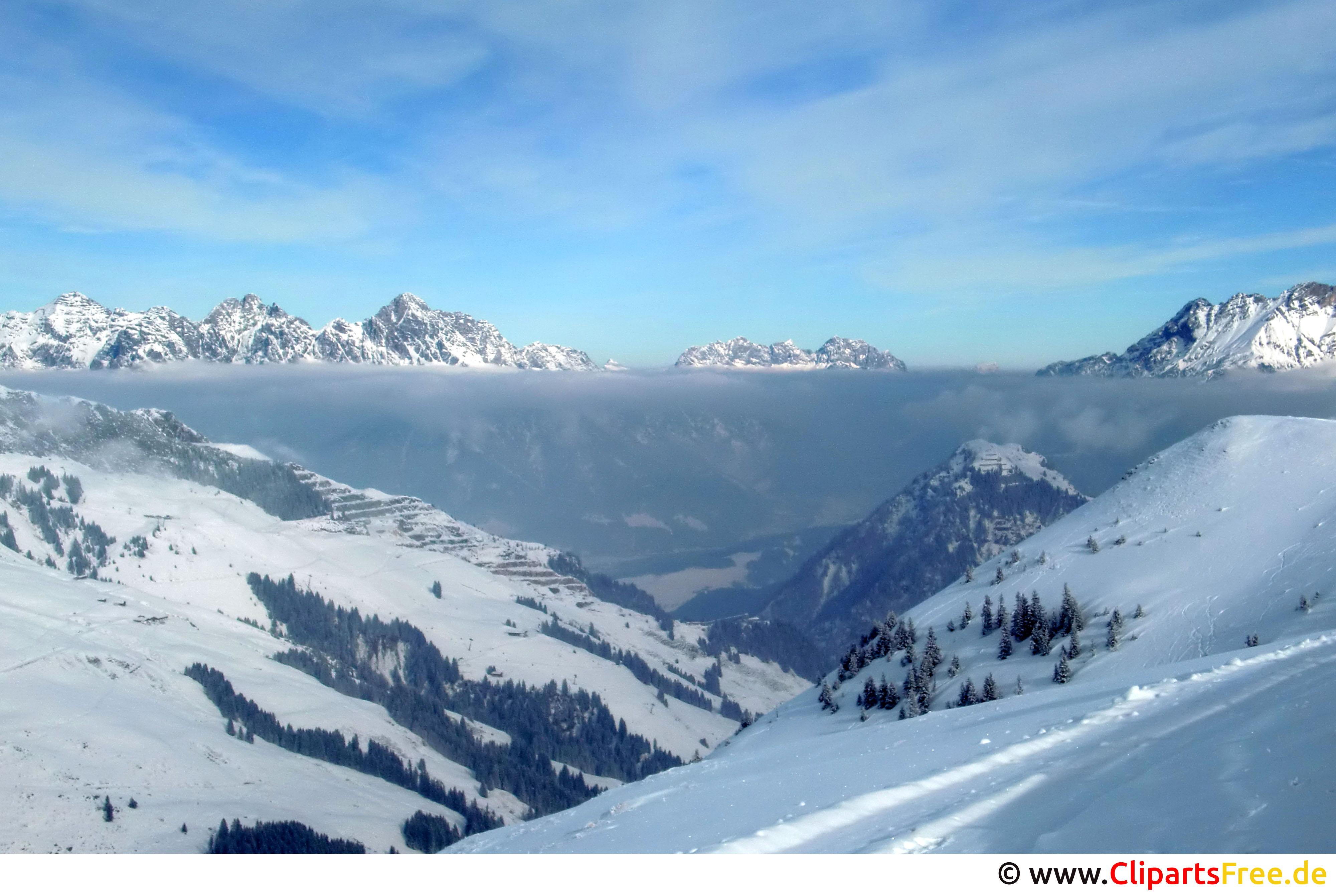 Gebirge, Schnee, Winter Bild, Foto, Grafik kostenlos