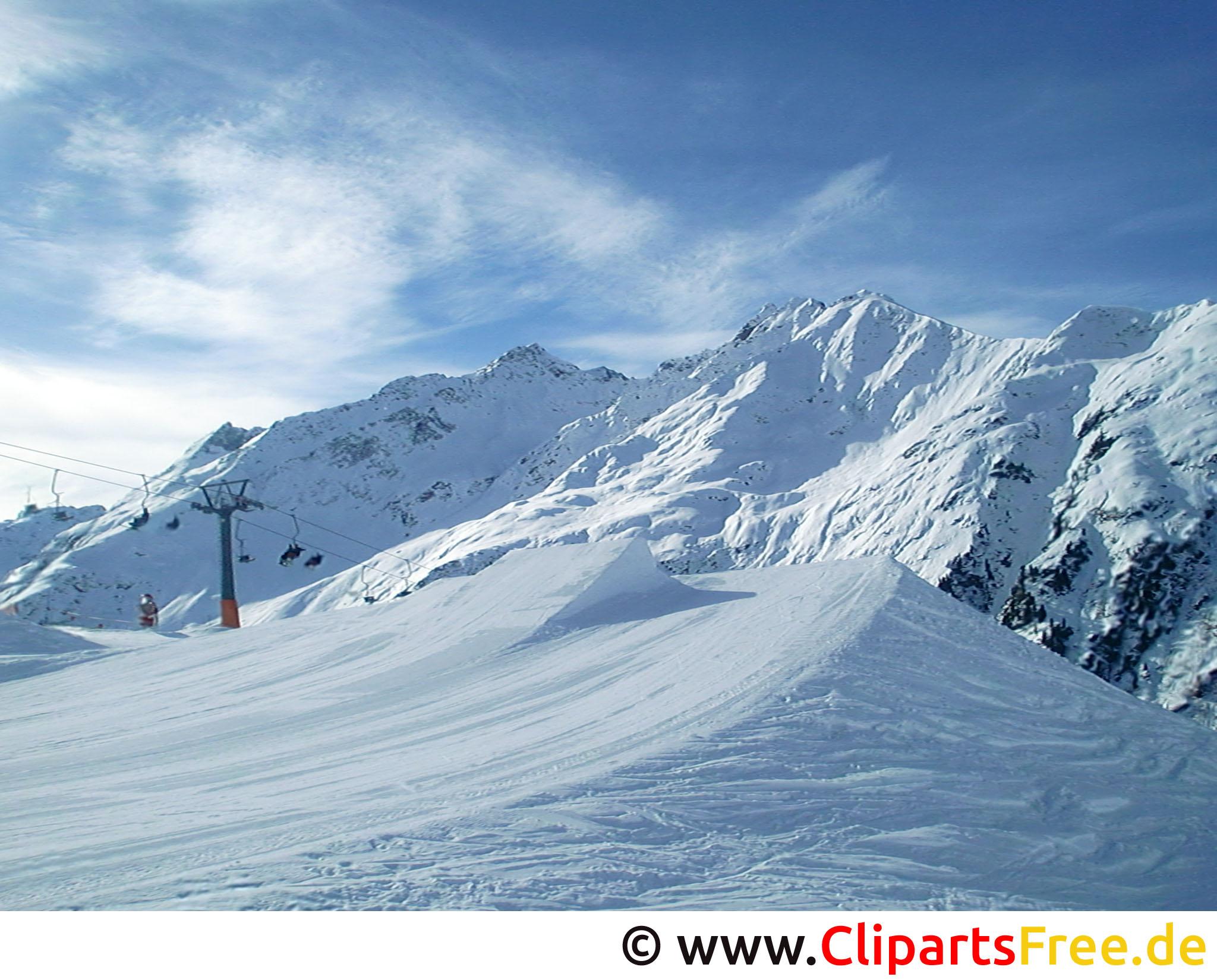 Ski Piste Bild, Foto, Grafik kostenlos