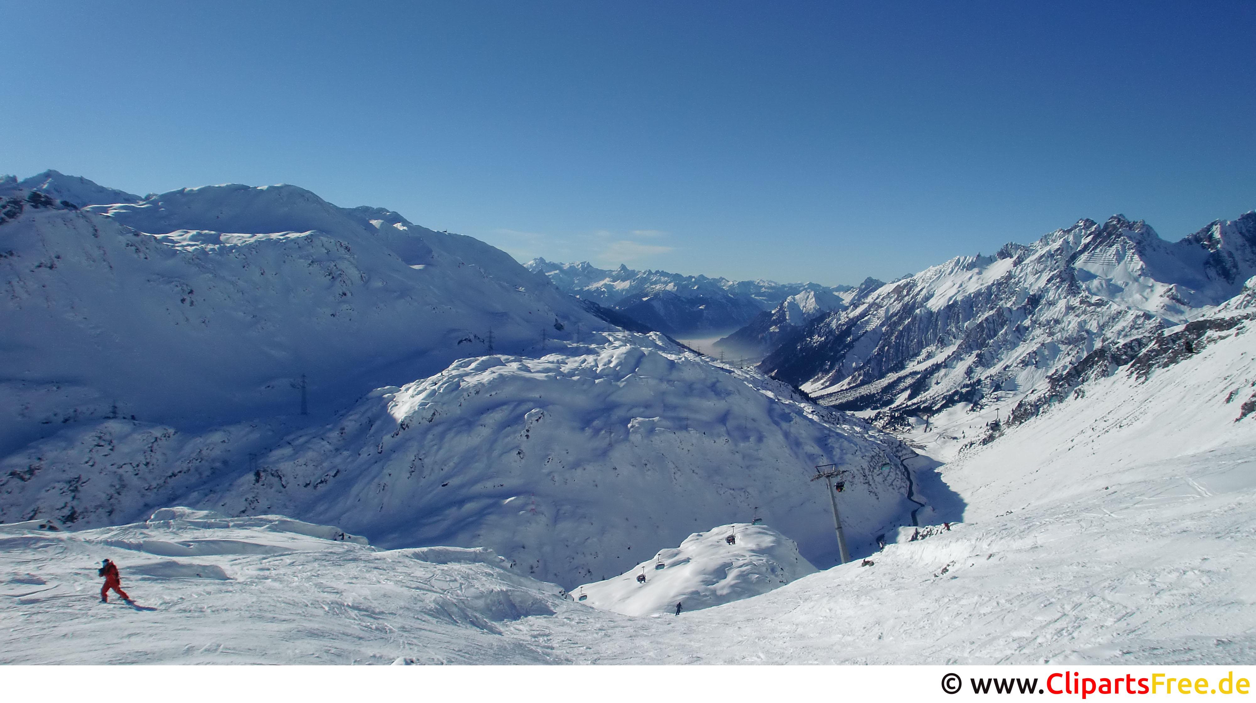 Skigebiet Bild, Foto, Grafik kostenlos