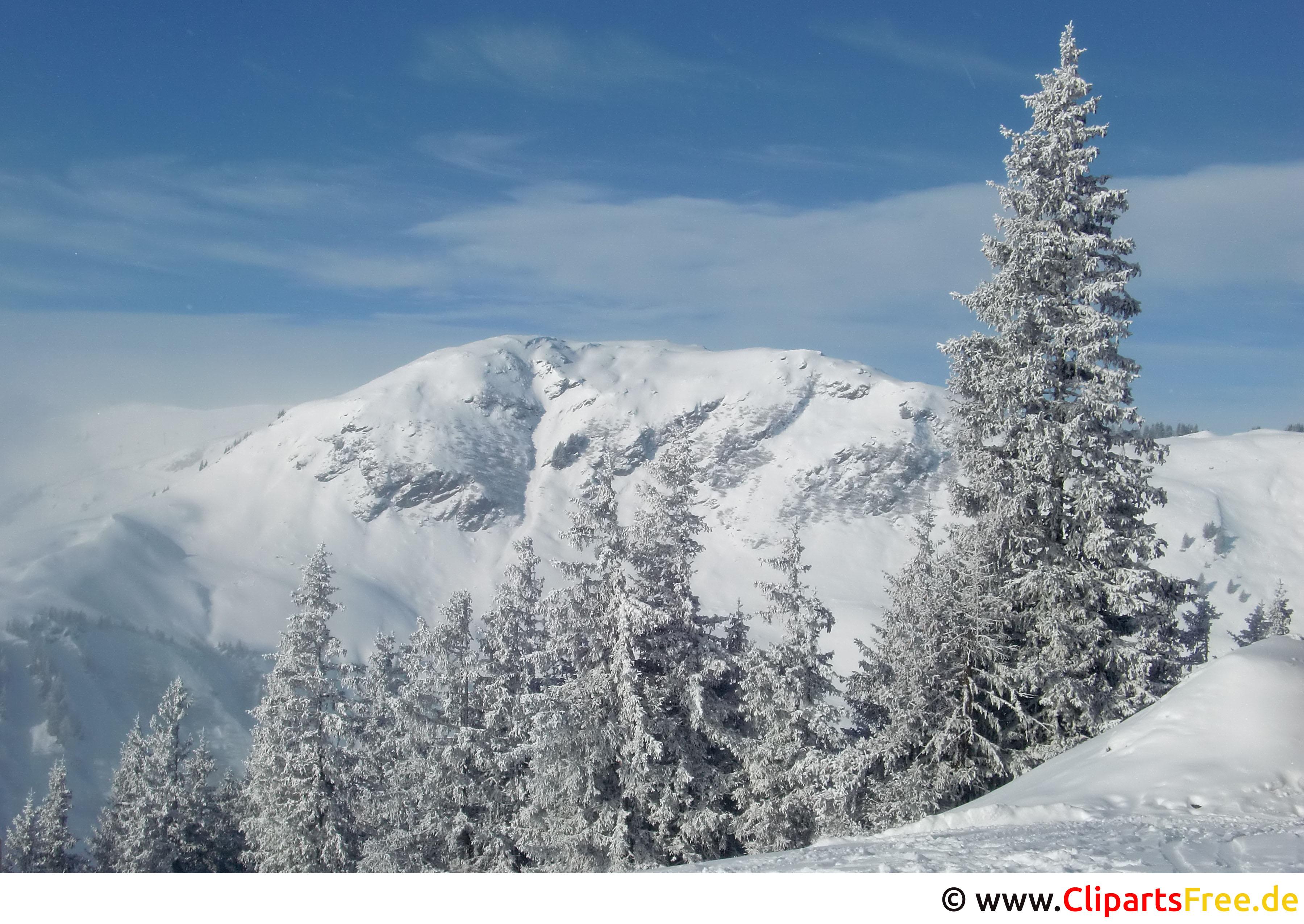 Winter Landschaftsbild, Foto schön
