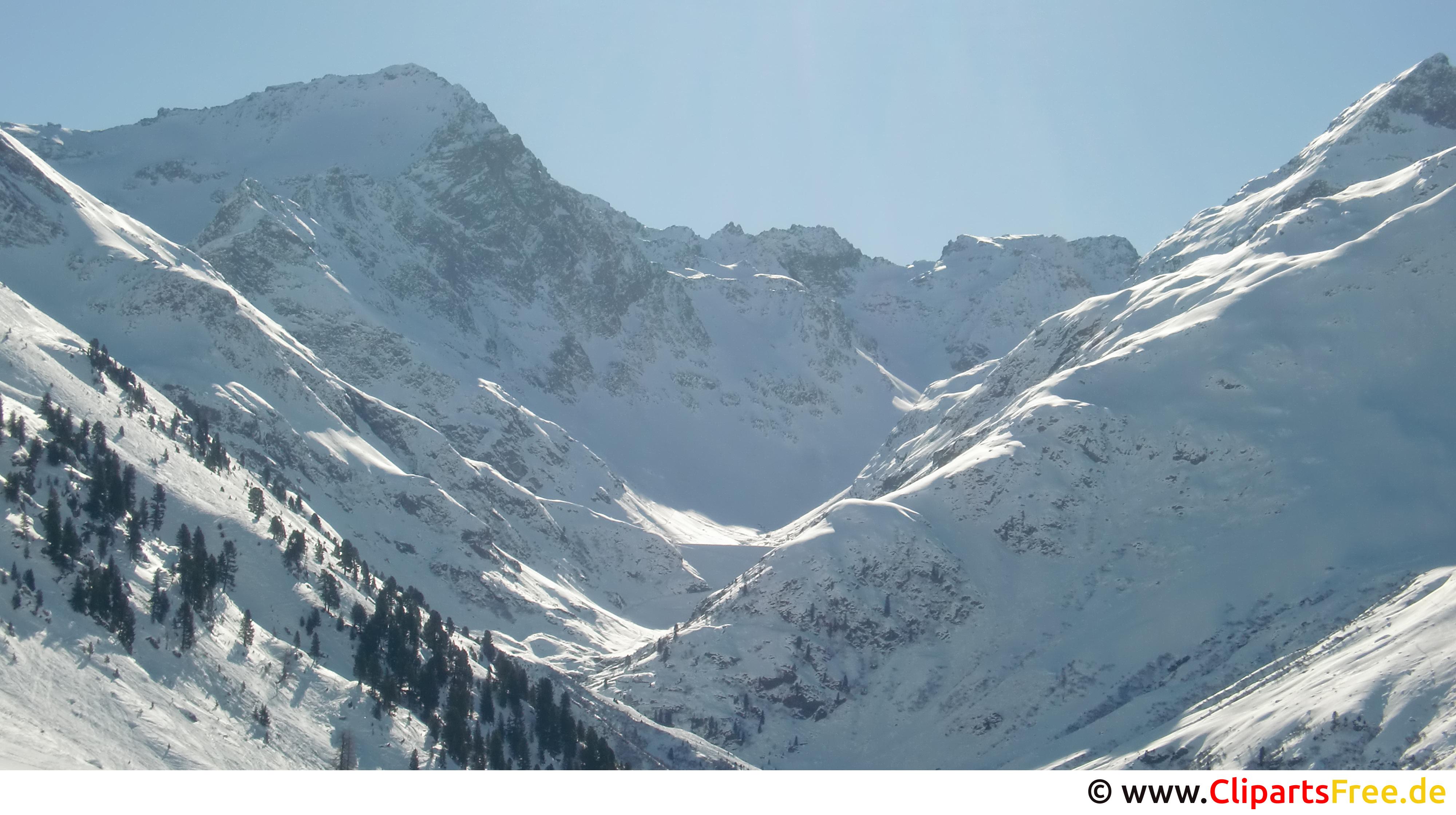 Winteralpen Bild, Foto, Grafik kostenlos
