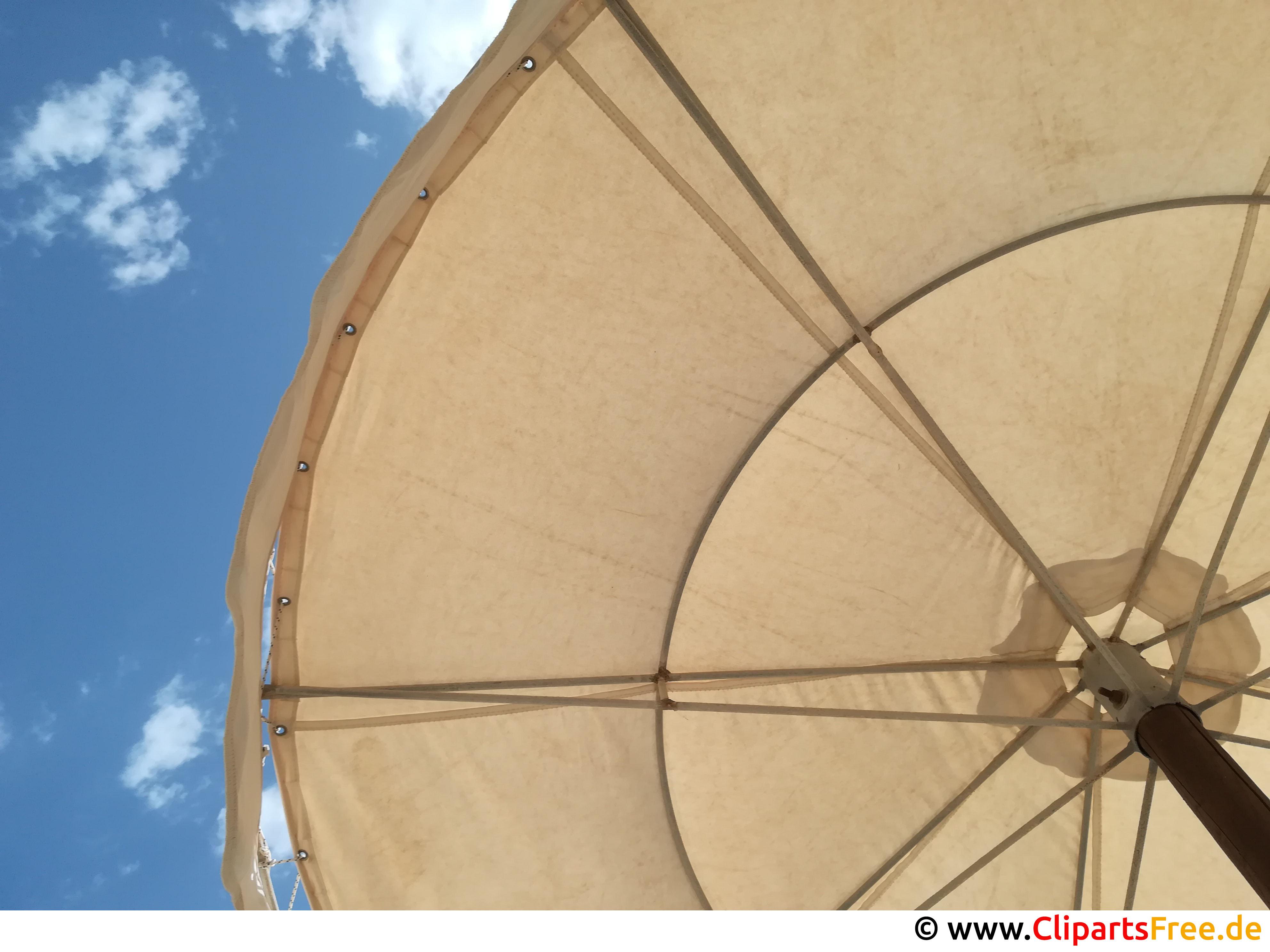 Blick auf Sonnenschirm von unten Bild kostenlos