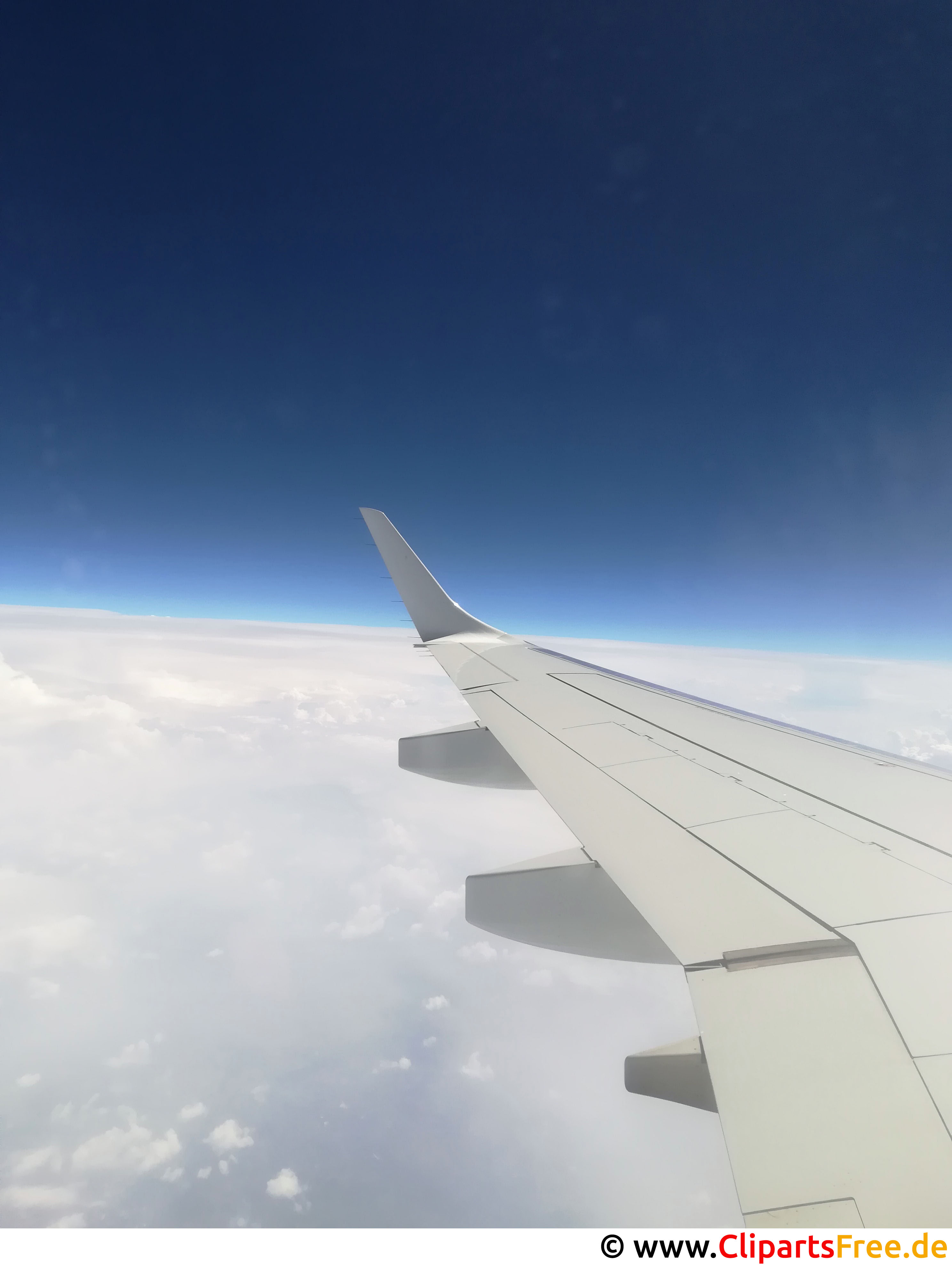 Blick aus dem Flugzeugfenster Bild kostenlos