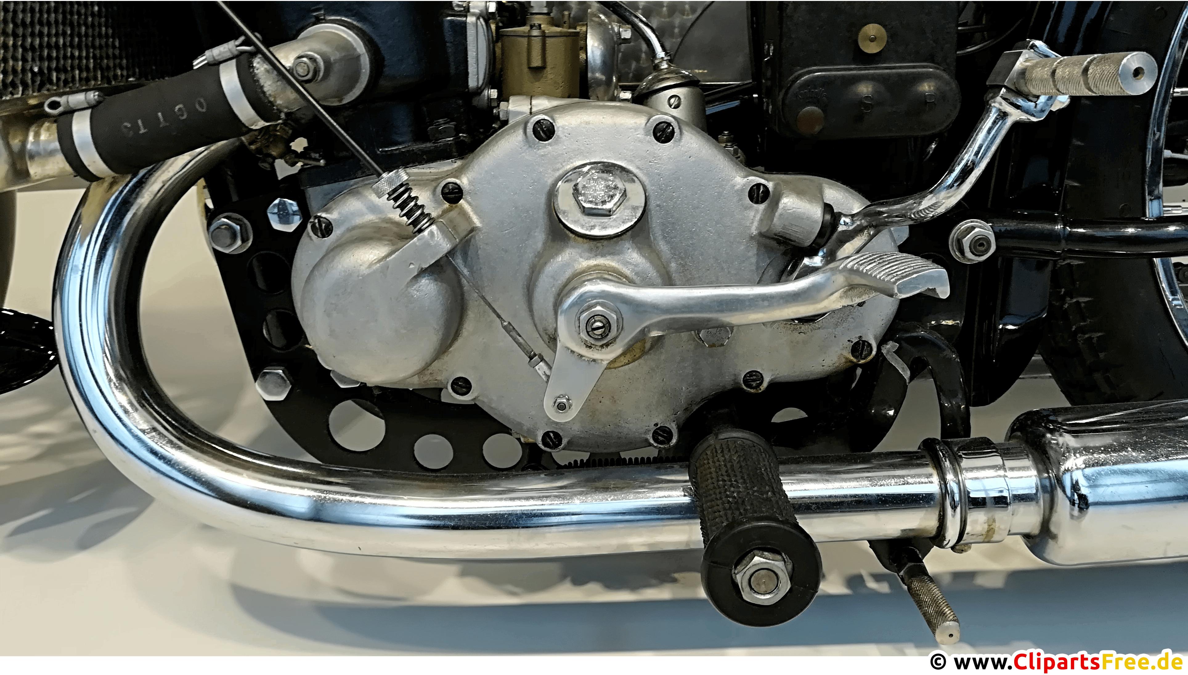 Motorradmotor Oldtimer Foto, Bild