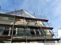 Byggnadsställning på huset, renoveringsfoto gratis