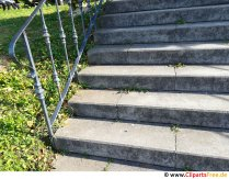 Gammalt foto för konkret trappa