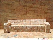 Bench from stones Imagine de stoc