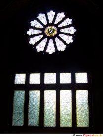 Rosfönster i kyrkan gratis foto