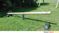Seesaw on the playground - photos for KiGa and school