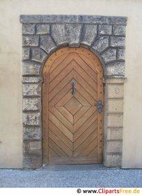 Big beautiful wooden door photo