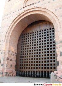 Port i det gamle slot foto gratis