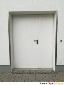 Vitt dörrfoto