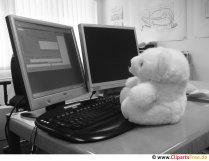 Nallebjörn fungerar gratis på skärmbilden
