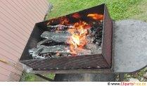 Mangal mit Feuer Foto kostenlos