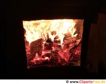 Oheň v pozadí pece zdarma