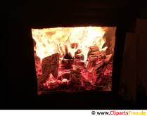 Ild i ovnens baggrund foto gratis