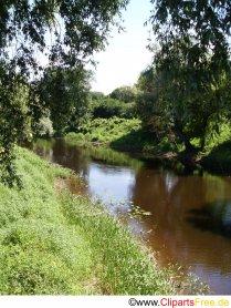 Lille flod om sommeren