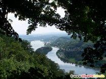 Rhein Blick vom Berg Foto