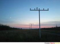 Solnedgang i lufthavnen billede, foto, gratis baggrund