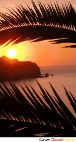 Solnedgang i Italien foto