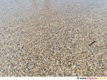 Körniger Sand am Meeresstrand Foto