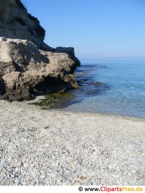 Strand med sten i Italien gratis foto
