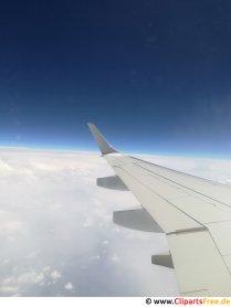 Utsikt från flygplanets fönster gratis bild