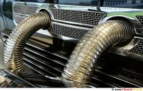 Chromstahl-Auspuff Oldtimer Auto Foto, Bild, Hintergrund