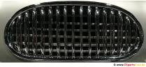Radiator, grill chrome classic car photo, background image