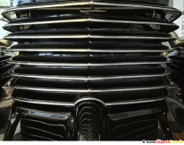 Grille retro car photo, background image for free