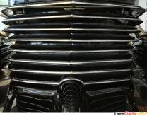 Grille retro bilfoto, baggrundsbillede gratis