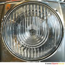 Oldtimer Scheinwerfer Chromiert Hintergrundbild, Foto
