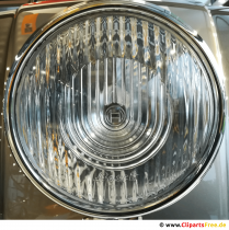 Vintage bil forlygte forkromet tapet, foto