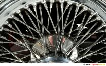 Wheel spokes chrome background image