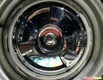 Hubcap krom stålfoto, bild, bakgrund, bild