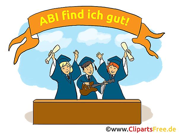 Alles Gute zum Abitur Bild, Karte, Clipart
