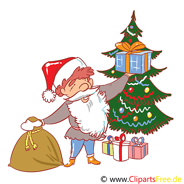 Advent fir-tree clipart afbeelding