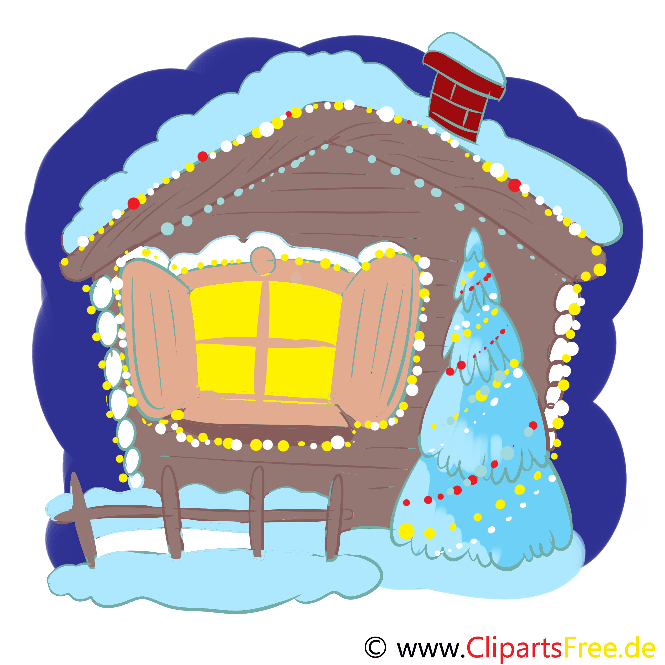 Adventsabend Bild, Clipart, Illustration