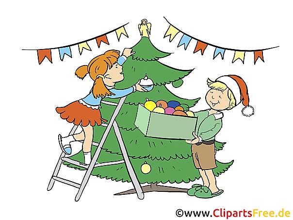 adventsbild kinder und weihnachtsbaum. Black Bedroom Furniture Sets. Home Design Ideas