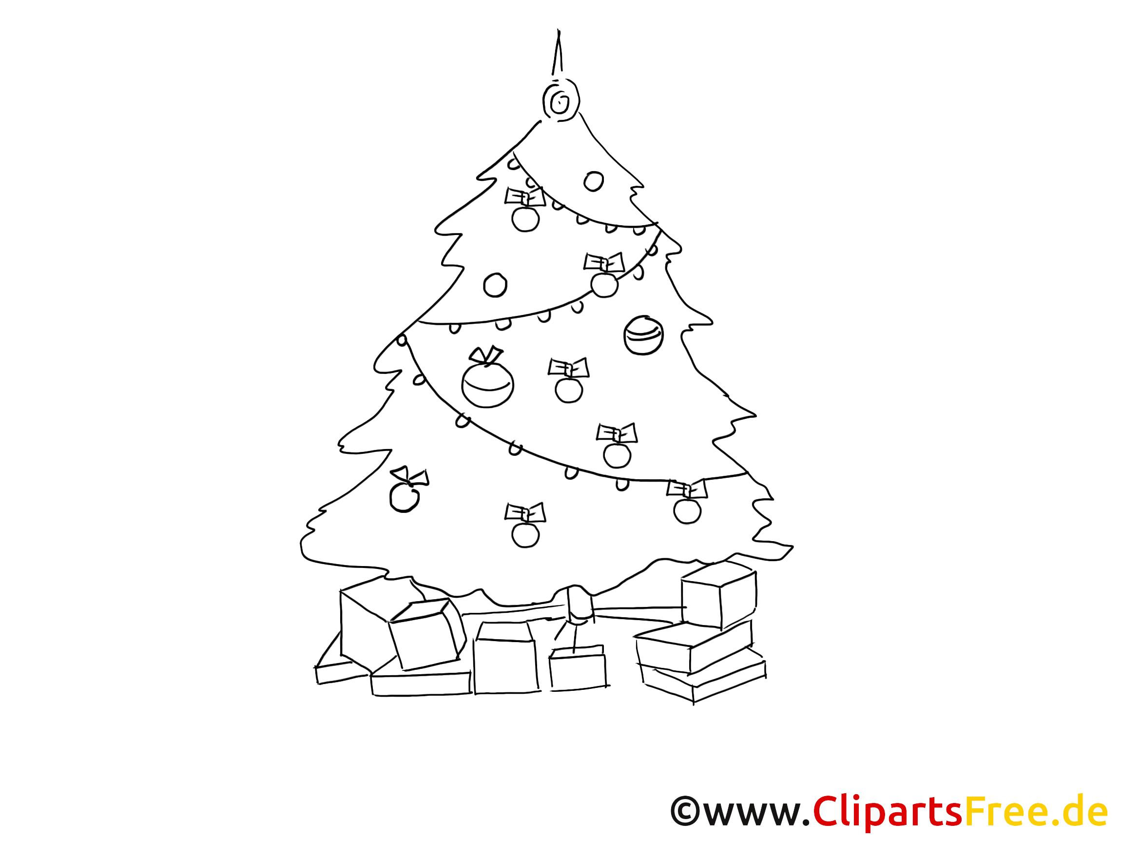 Weihnachtsbaum Schwarz.Clipart Tannenbaum Schwarz Weiss