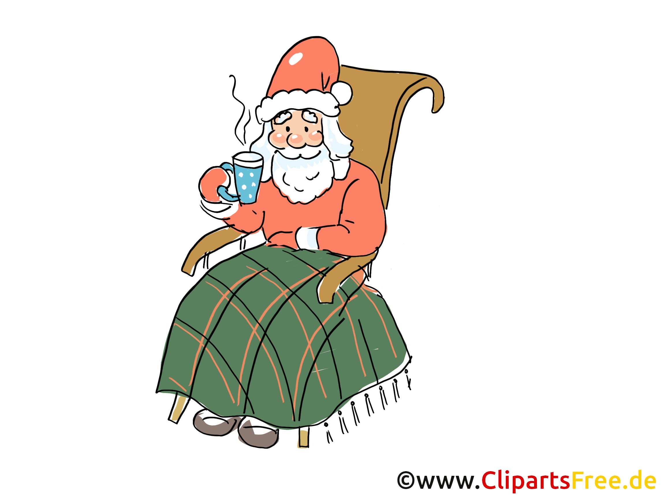 Nikolaus Cartoon, Clipart, Bild, Grafik